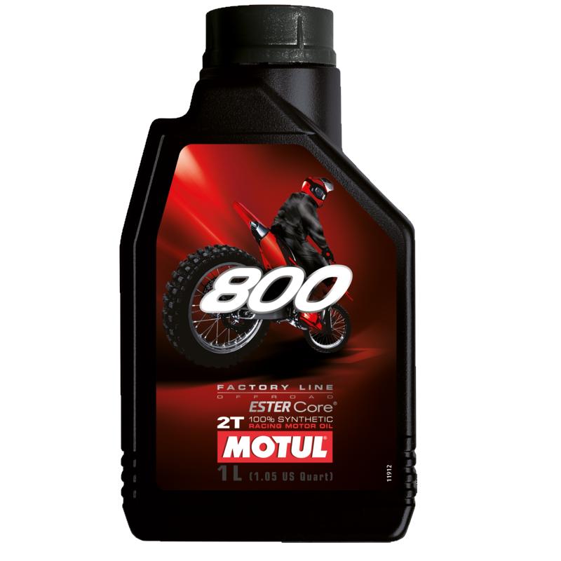 Huile 2T MOTUL 800 2T FL OFF ROAD 100% synthetique (1L)