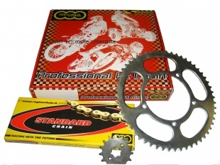 Kit chaine Regina Yamaha 50 TZR / MBK Xpower de 1997-2003 12 x 46 Renforce