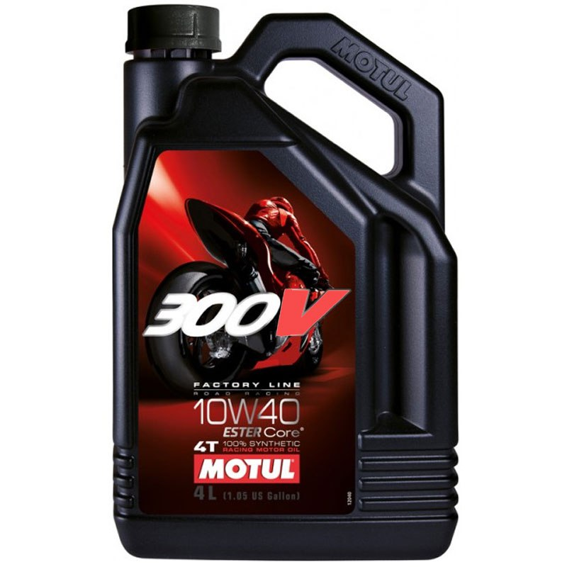 Huile 4T MOTUL 300V FL ROAD RACING 10W40 100% synthetique (4L)
