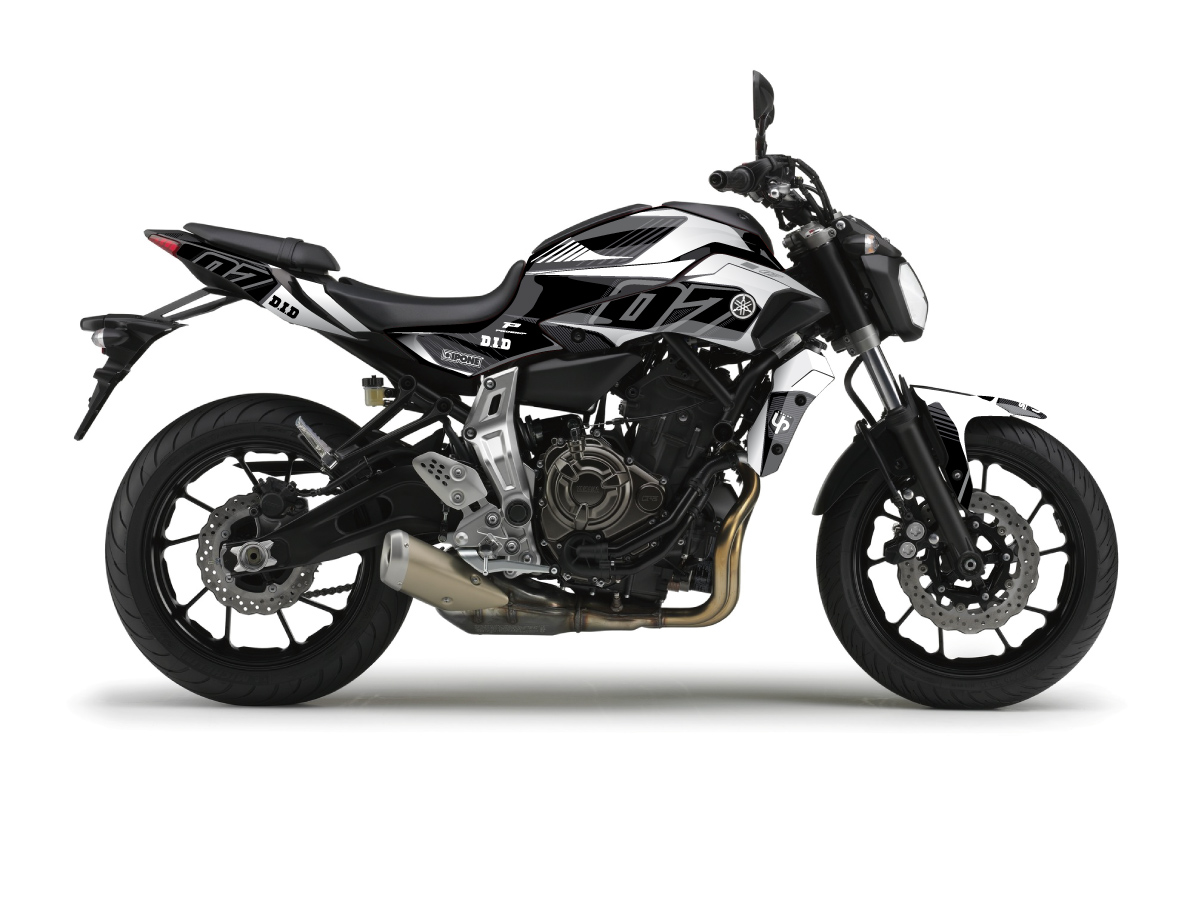 Kit Déco UP MAXIMIZE YAMAHA 700 MT-07 Noir/Blanc