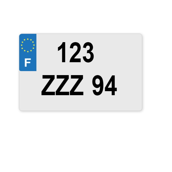Plaque immatriculation PLEXY 210x130 - EUROLOGO (anciens numéro)