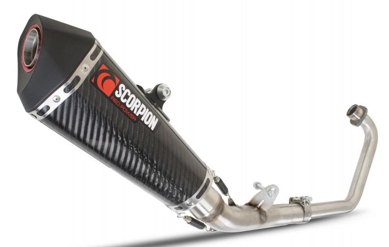 Pot Scorpion Serket HONDA 125 CBR R Carbone (Ligne Complete)