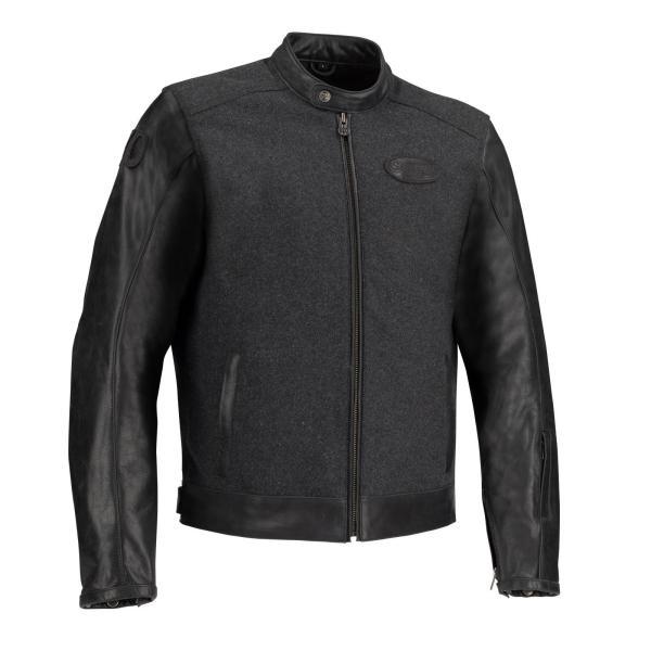 Blouson Moto SEGURA Cuir / Laine LOOKS Noir / Anthracite Taille L