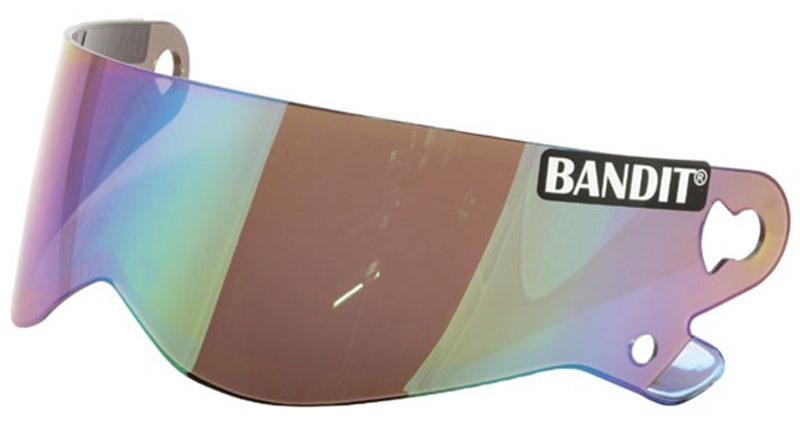 Visière casque BANDIT XXR Crystal / Superstreet II-Fume fonce