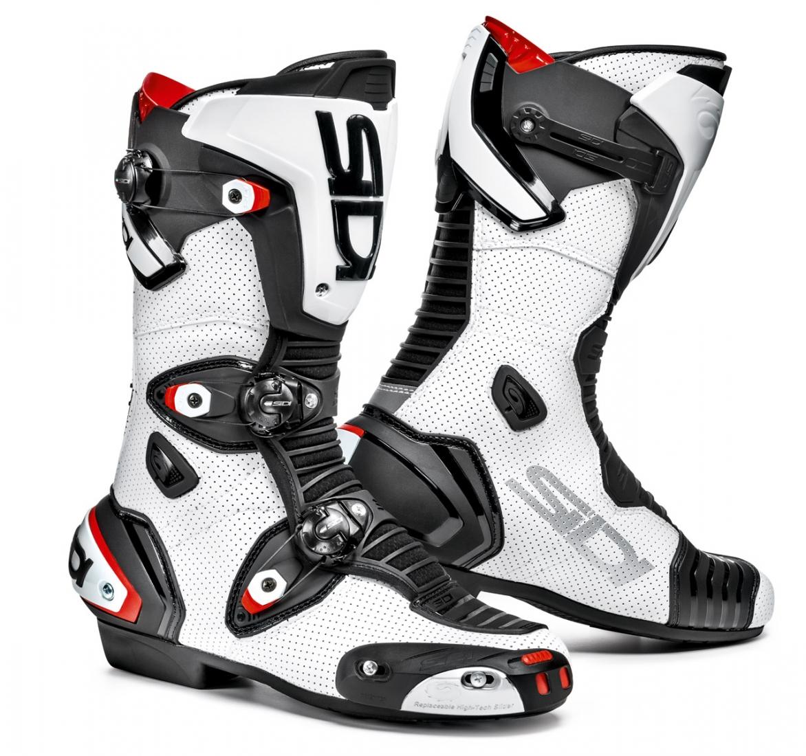 Bottes Moto SIDI MAG-1 AIR Blanc / Noir Pointure 38