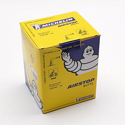 Chambre à air 15 pouces (130/90/15) - 15 MI Valve coudée Michelin