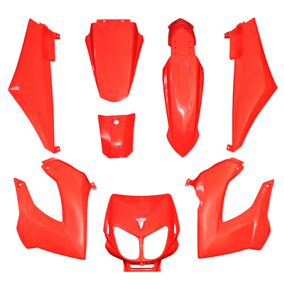 Kit carenages Derbi Senda Xtreme / Xrace (Rouge)