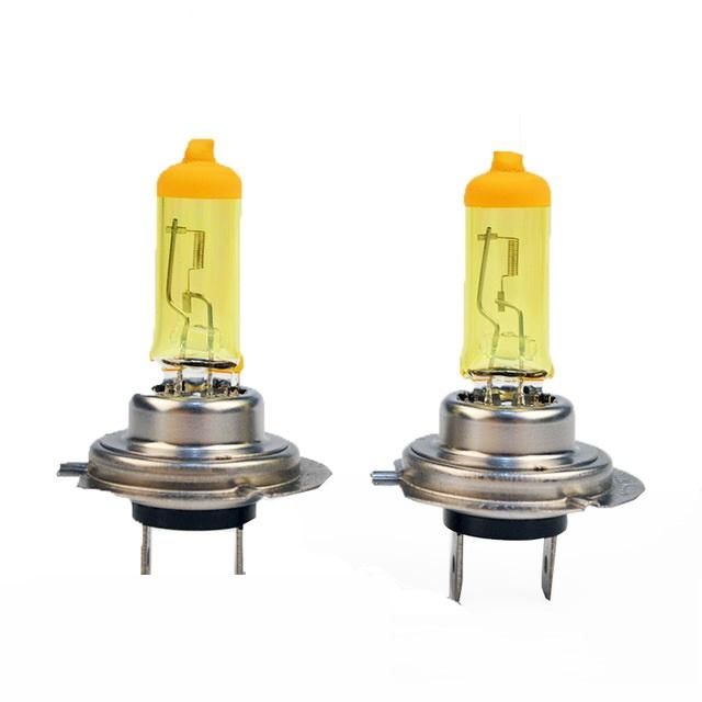 Lampe 12V 55W H7 type Px26d Jaune (blister de 2)