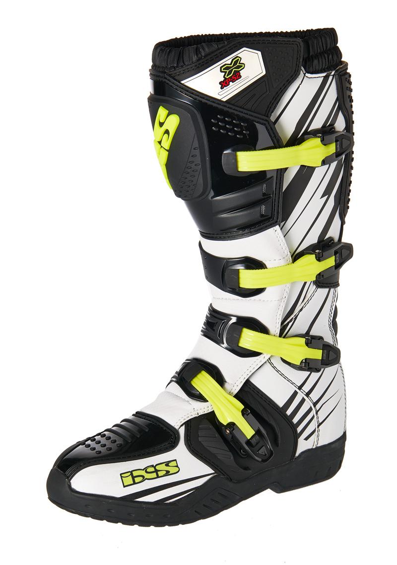 Bottes Motocross / Enduro IXS XP-S2 Blanc / Noir / Jaune Pointure 37
