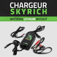 Chargeur de batterie moto lithium